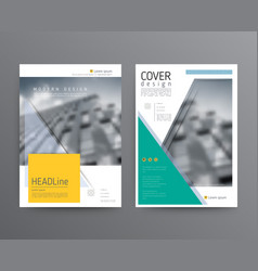 business template for brochure annual report vector image
