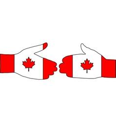 Canadian handshake vector