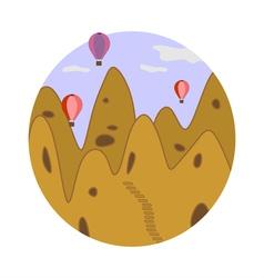 Cappadocia in circle vector