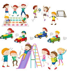 Children playing games and sports vector image