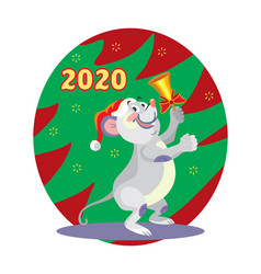 Christmas mouse 6 vector