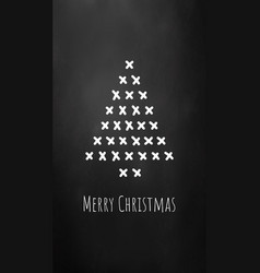 christmas tree concept card or phone wallpaper vector image