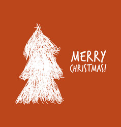 christmas tree for your design vector image