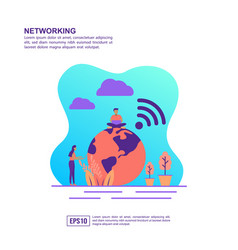 concept networking modern conceptual for vector image