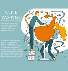 Concept of wine tasting vector