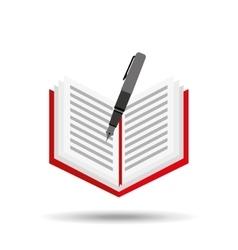 concept school book pen vector image