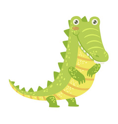 Crocodile cute toy animal with detailed elements vector
