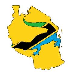 Crocodile Tanzania vector