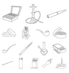 Design health and nicotine logo set of vector