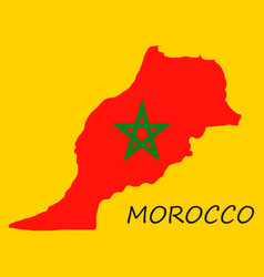 Detailed morocco-map-flag vector
