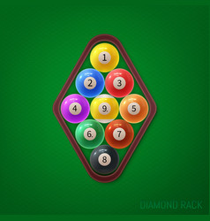 Diamond pool ball racks on vector