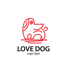 dog logo designs vector image