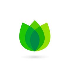 Eco leaves tulip logo icon design template vector
