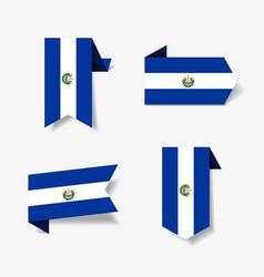 El salvador flag stickers and labels vector