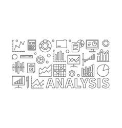 Financial analysis concept banner vector