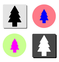 fir tree flat icon vector image