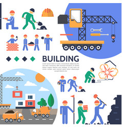 flat building industry template vector image