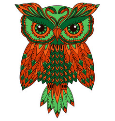 Funny and serious big owl vector