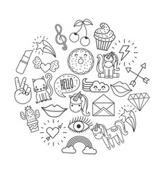 Girly icon image vector