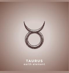 hand drawn taurus zodiac sign vector image