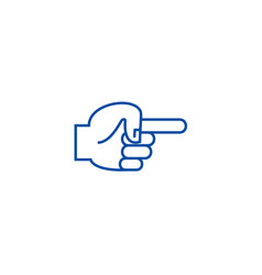 hand finger pointer back line icon concept hand vector image