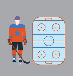 Hockey player attribution clothes vector