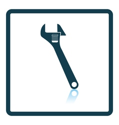Icon of adjustable wrench vector image