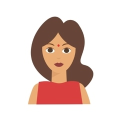 Indian Woman Flat vector