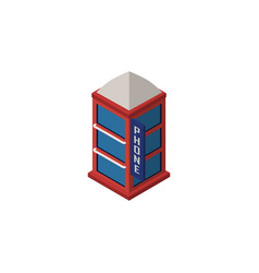 isolated telephone booth isometric phone box vector image
