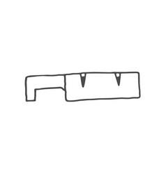 knife sharpener doodle knife sharpener vector image