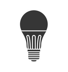 Led light lamp bulb filled silhouette icon vector