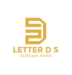 letter d s logo icon design template vector image