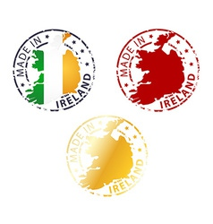 Made in Ireland stamp vector