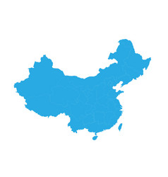 Map of china high detailed map - china vector