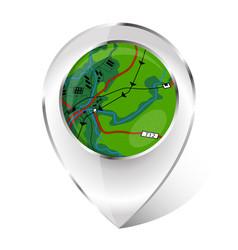 marker for navigation vector image