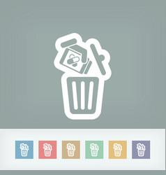 Medical trash bin vector