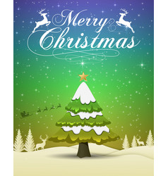 merry christmas and happy new year 2019 typograph vector image
