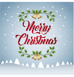 merry christmas card greeting decoration vector image