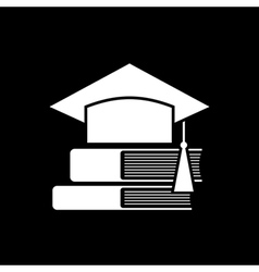 Mortar Board and books vector image