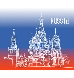 Moscow Russia on flag vector