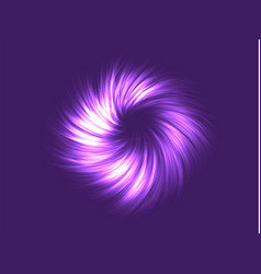 Neon abstraction twisted in a spiral vector