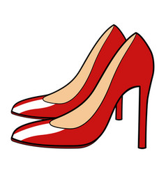 of red stiletto vector image