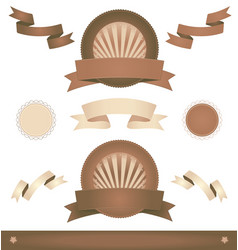 old vintage ribbons and banners vector image