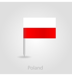 Poland flag pin map icon vector image
