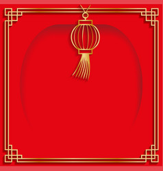quadrant multi-layer banner chinese-style frame vector image