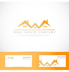 Real estate house roof logo vector image