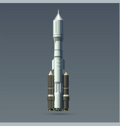 Rocket realistic heavy and space module vector