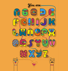 romantic cipher text you are my superman vector image
