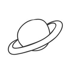 Saturn planet cartoon vector