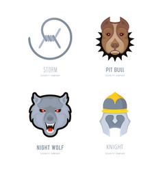 set security company logos vector image